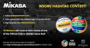 Mikasa's WSOBV Hashtag Contest 2015