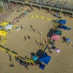CA Footvolley - Bird's Eye View of the Court
